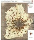LONDON. Proposed postwar development/new satellite towns. ABERCROMBIE 1944 map
